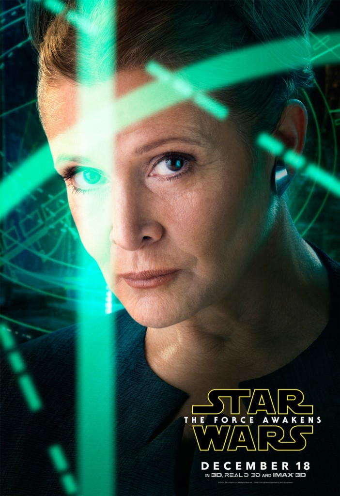Star Wars The Force Awakens Poster Leia