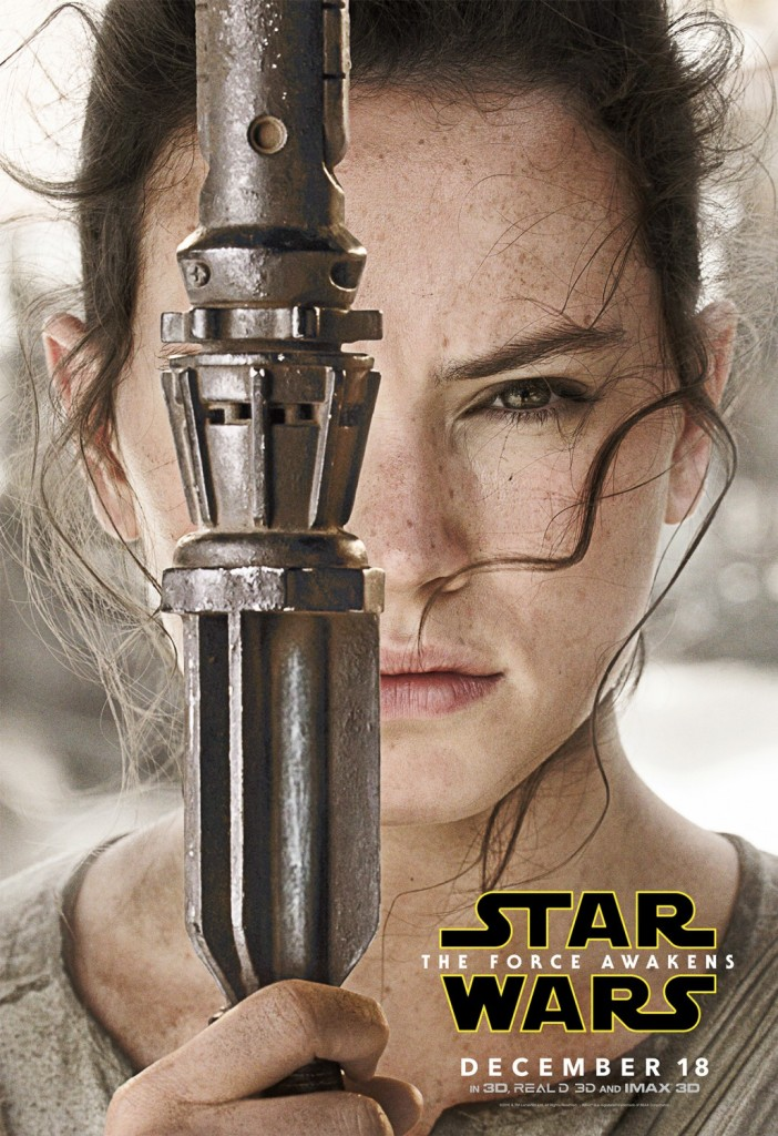 Star Wars The Force Awakens Poster Rey